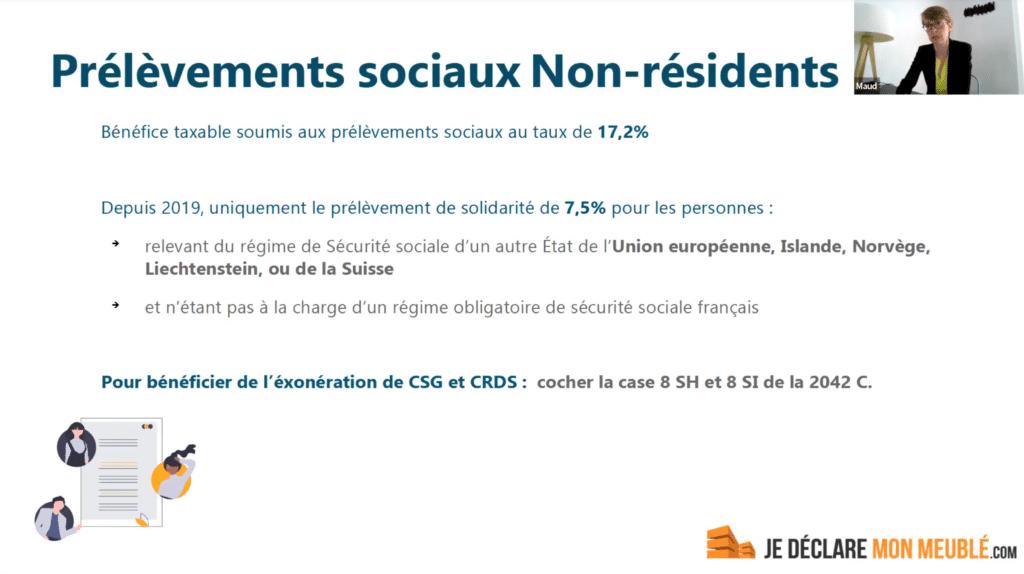 prelevements sociaux non-résidents