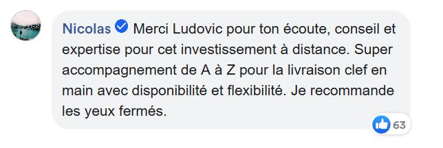 Commentaire facebook Nicolas