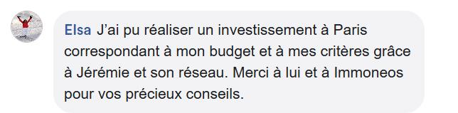 immoneos commentaire facebook paris 3